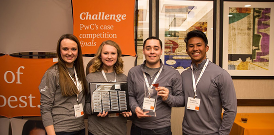 PwC Case Competition winners