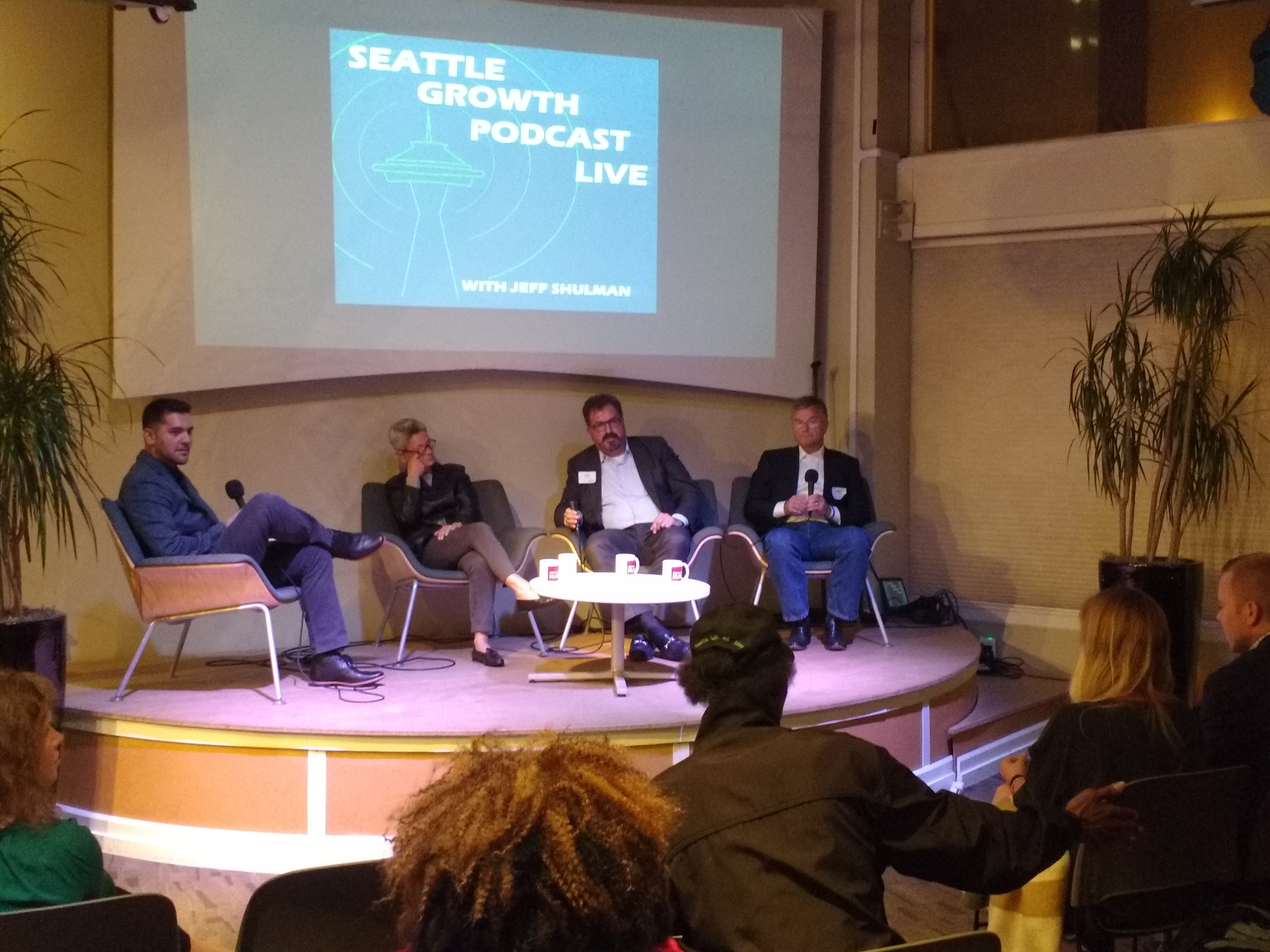Seattle Growth podcast taping at Impact Hub Seattle