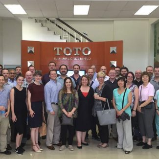 EMBA students at the TOTO factory