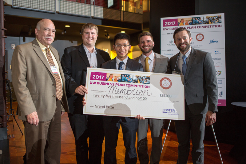 Membrion Wins 20th Anniversary of UW Business Plan Competition