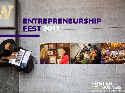 2017 Entrepreneurship Fest front page of flyer
