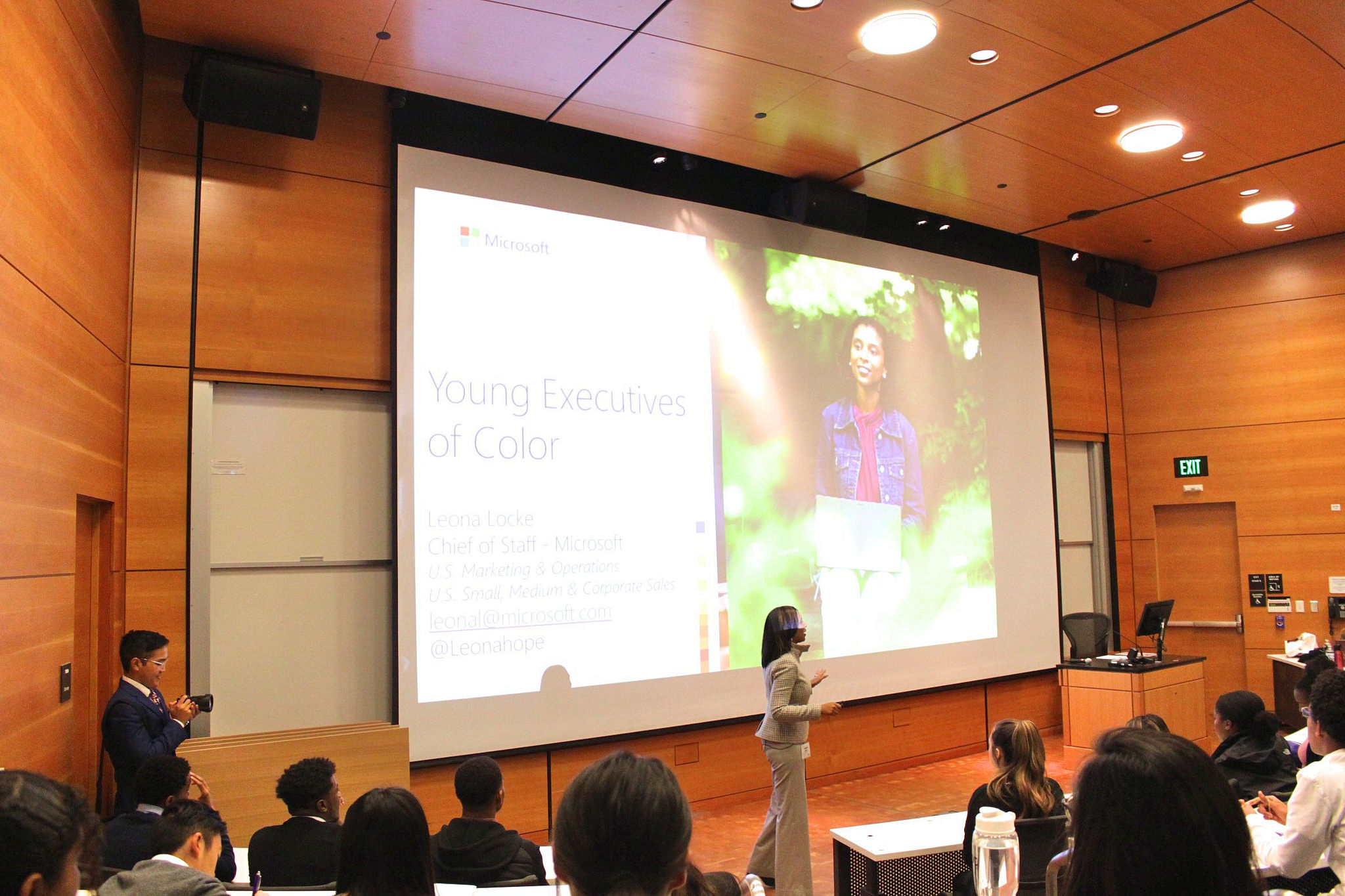 Leona Locke, Chief of Staff at Microsoft delivers keynote lecture