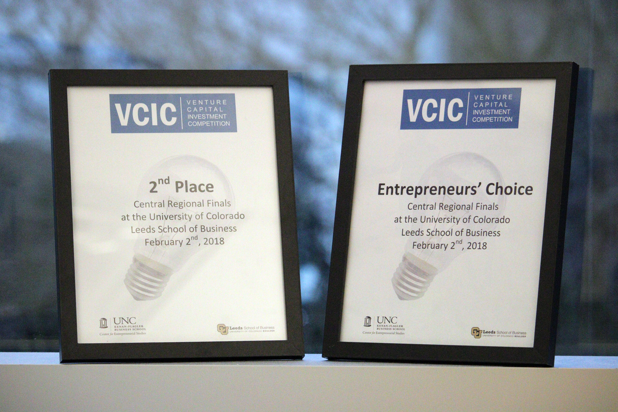 Congratulations to evening MBAs Natalie Cook, Renate Kroll, Vera Martinovich, Sara Mosiman, and Hillary Obye, who took home the Entrepreneurs' Choice award and the Second Place prize in the VCIC West Regionals this past Saturday in Boulder, Colorado