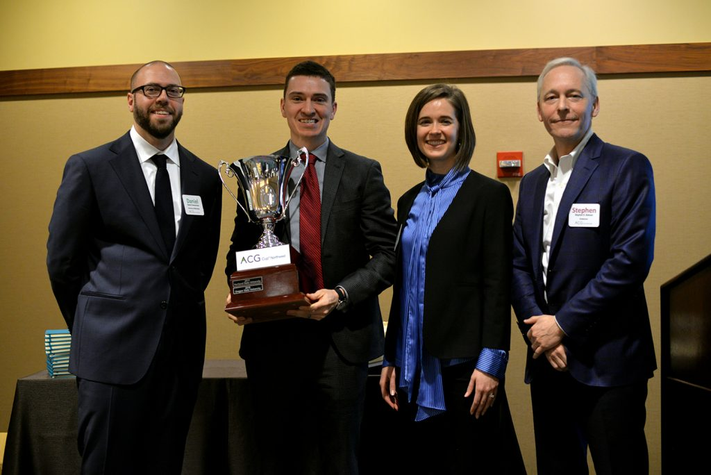 Participants of ACG Cup Northwest Finance Case Competition with trophy