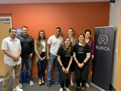 Marshelle and Tami with the Rubica team