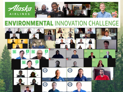 Students from six different colleges took home prizes at the 2021 Alaska Airlines Environmental Innovation Challenge hosted by the University of Washington.