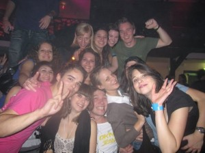 A picture of one of the last school-wide parties. In here, there are 13 people representing 8 countries (France, Germany, Finland, Spain, Turkey, Uruguay, the Czech Republic and the United States).