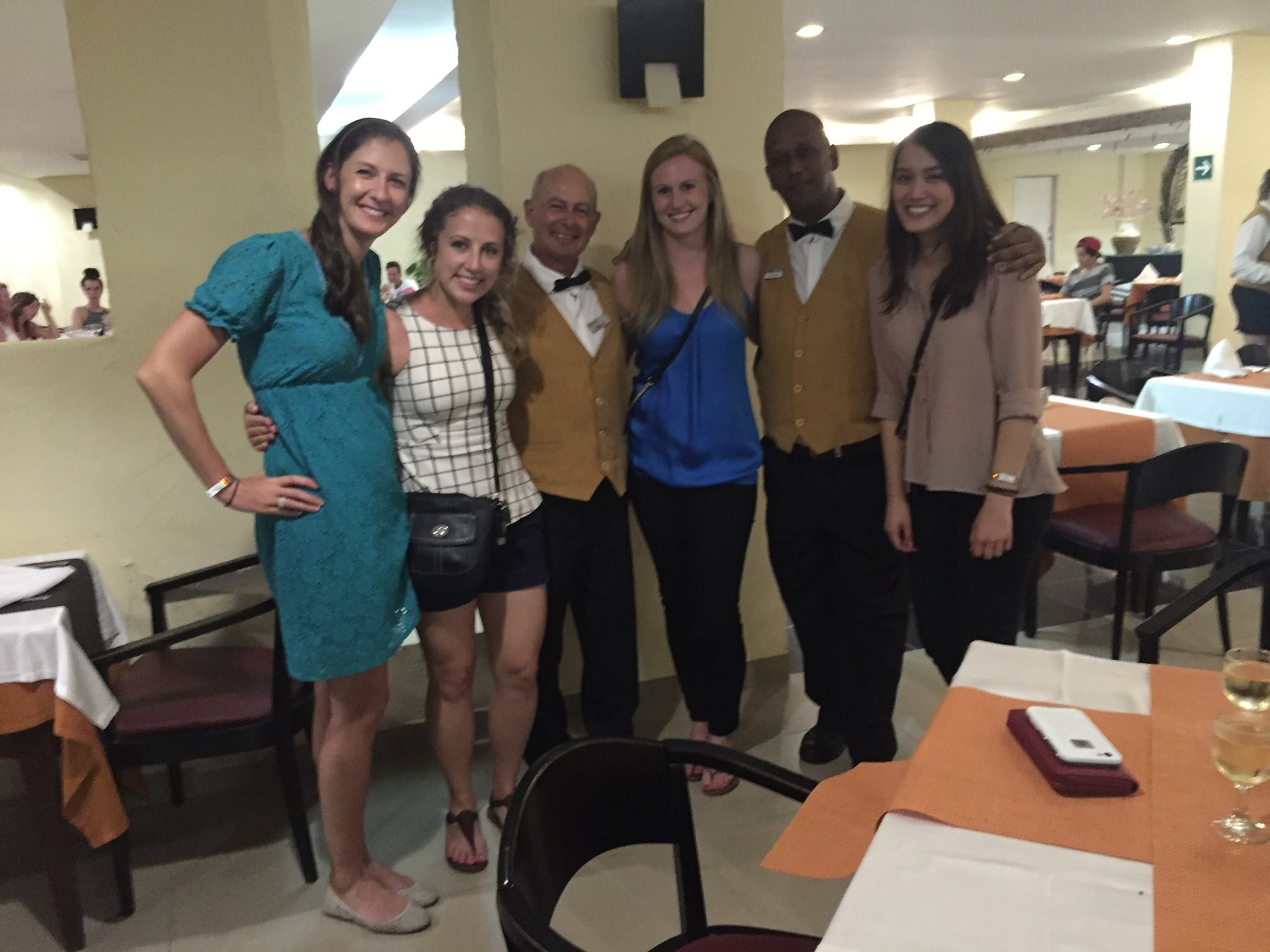 Chelsey with classmates on the Cuba Study Tour